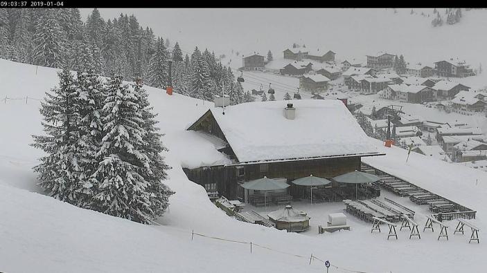 Lech, Oostenrijk - 4 januari 2019