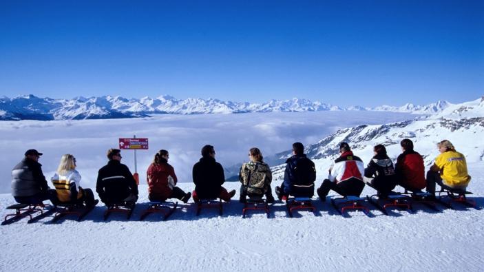 Op wintersport met een groep