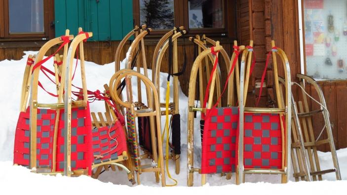 Rodelen tijdens de wintersport