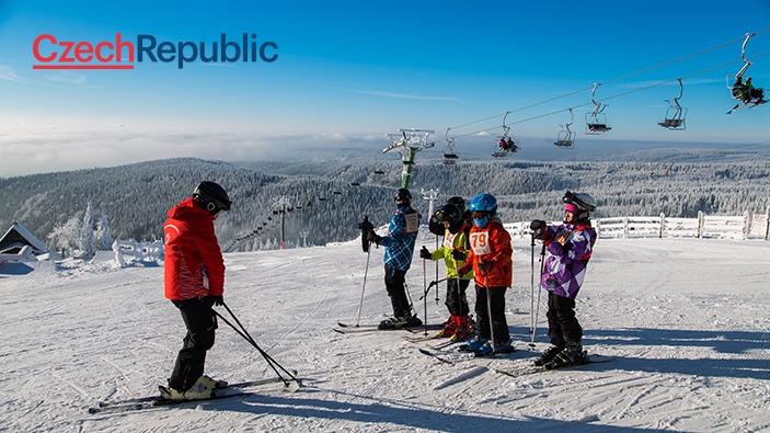Skiën in het Ertsgebergte