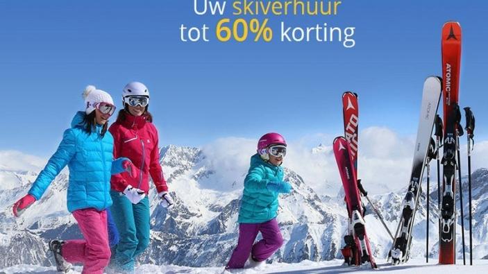 Korting op skihuur