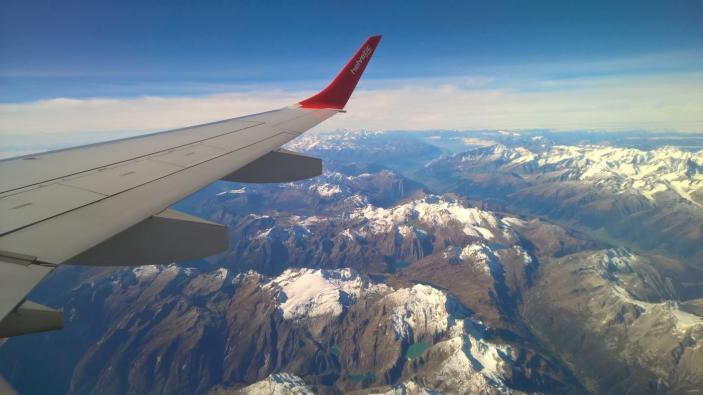 Wintersport met het vliegtuig