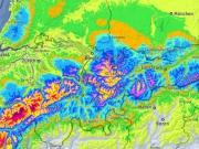 Enorme hoeveelheid sneeuw opweg naar de Alpen