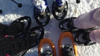 Raquettes en sneeuwschoenen