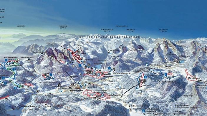 Pistekaart Berchtesgadener Land