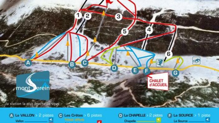 Pistekaart Mont Serein