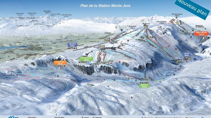 Pistekaart Monts Jura