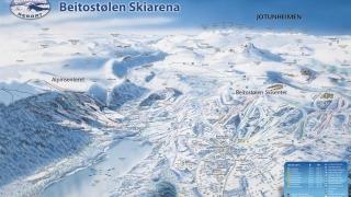 Pistekaart Beitostølen Skiområde