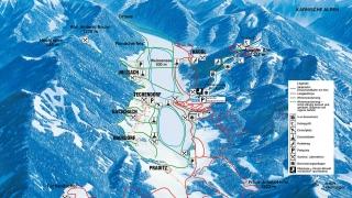 Pistekaart Bergbahnen Weissensee