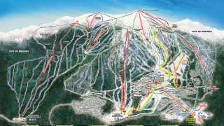 Pistekaart Big White Ski Resort