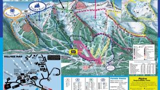 Pistekaart Fernie Alpine Resort