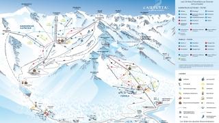 Pistekaart Kaunertaler Gletscher