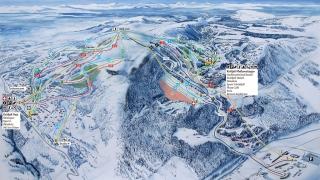 Pistekaart Kvitfjell Alpine Centre
