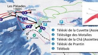 Pistekaart Les Pleiades