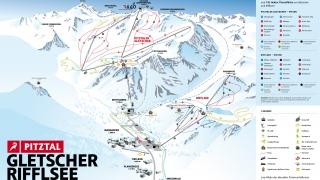Pistekaart Pitztaler Gletscher - Rifflsee
