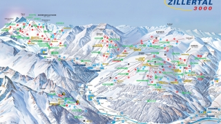 Pistekaart Ski Zillertal 3000