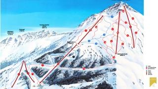 Pistekaart Skizentrum St. Jakob