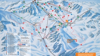 Pistekaart Stubaier Gletscher