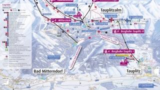 Pistekaart Tauplitz-Bad Mitterndorf