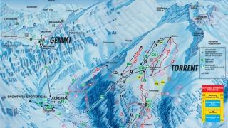 Pistekaart skigebied Torrent