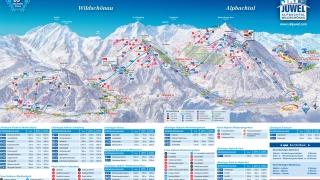 Pistekaart skigebied Ski Juwel Alpbachtal Wildschönau
