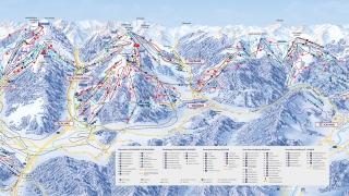 Pistekaart skigebied Snow Space Salzburg