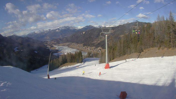 Skiën bij de Weissensee