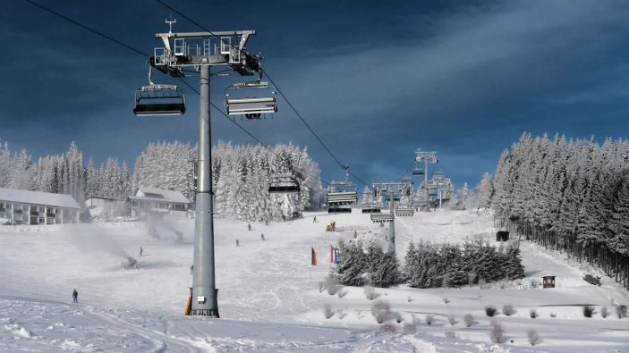 Wintersport skigebied Willingen