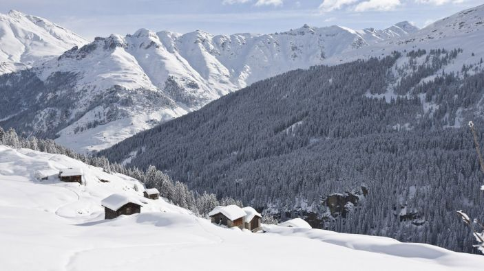 Wintersport skigebied Vals 3000