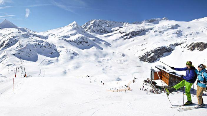 Wintersport skigebied Weißsee Gletscherwelt