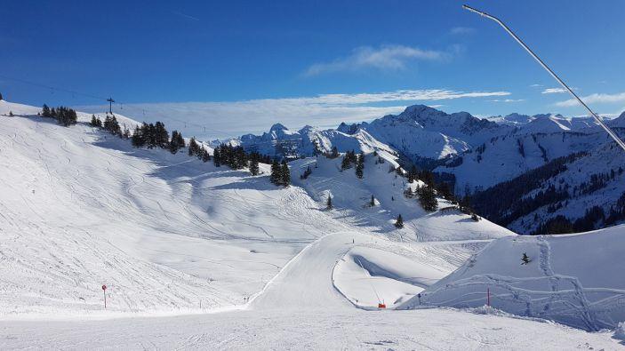 Wintersport skigebied Schneereich Damüls-Mellau