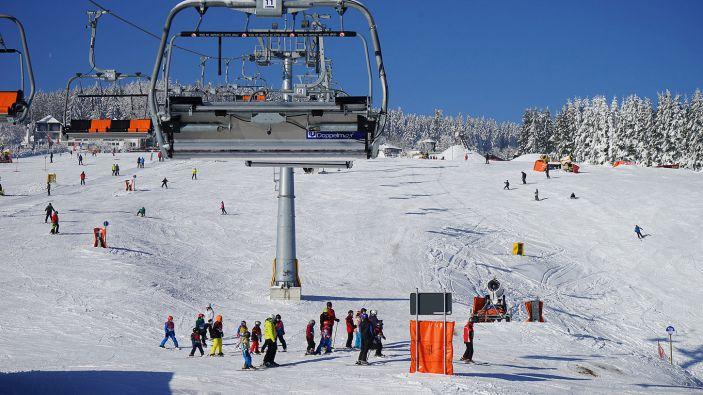 Wintersport skigebied Portwiese