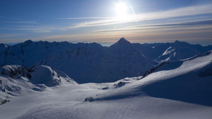 Wintersport skigebied Saastal