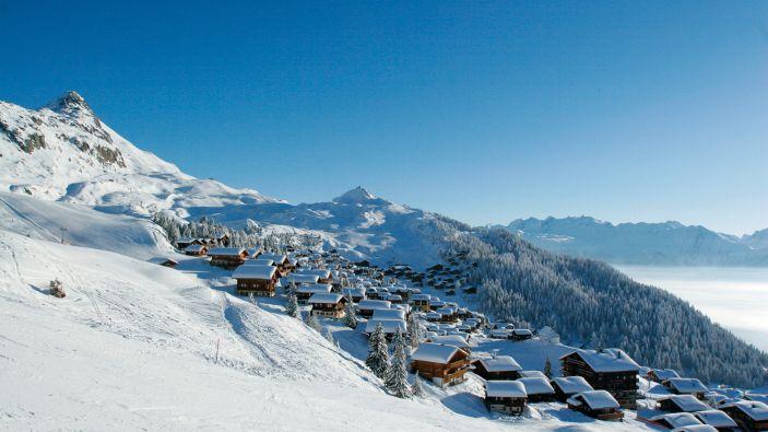 Wintersport skigebied Aletsch Arena