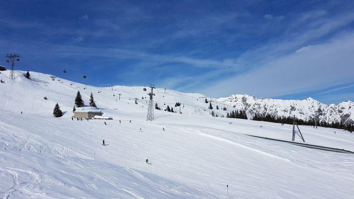 Wintersport skigebied Golm