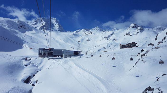 Wintersport skigebied Stubaier Gletscher