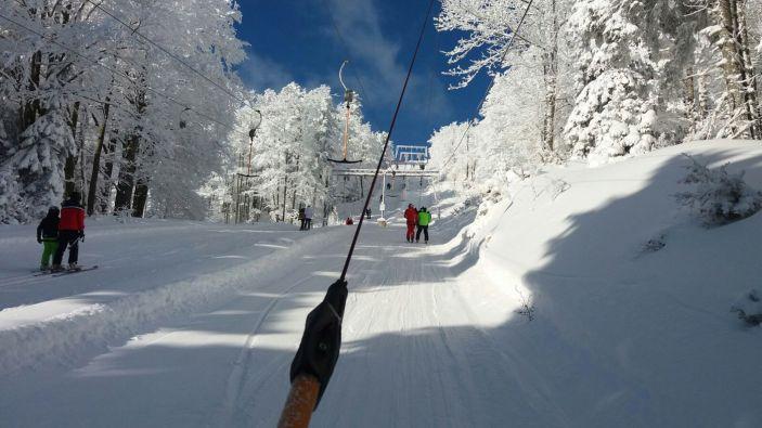 Wintersport skigebied Unterberg