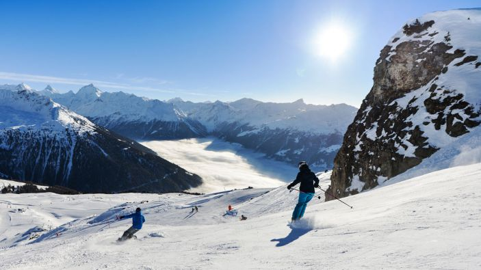 Wintersport skigebied St-Luc–Chandolin