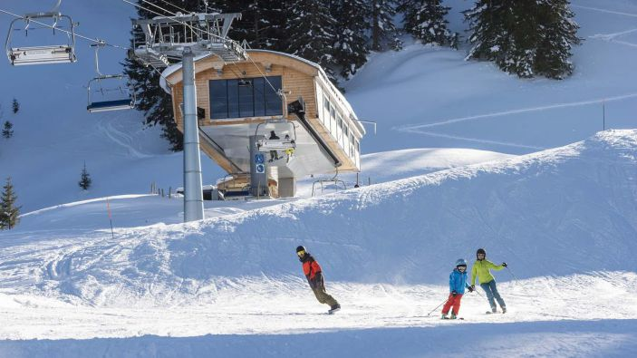 Wintersport skigebied Jaun