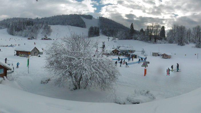 Wintersport skigebied Métabief