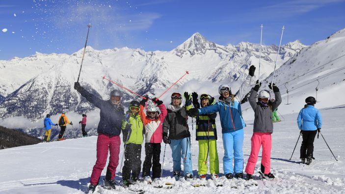 Wintersport skigebied Unterbäch–Brandalp