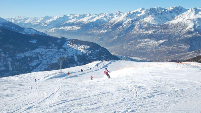 Wintersport skigebied Visperterminen
