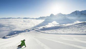 Wintersport skigebied Corvatsch Furtschellas