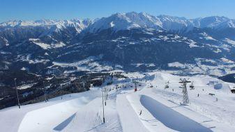 Wintersport skigebied Laax