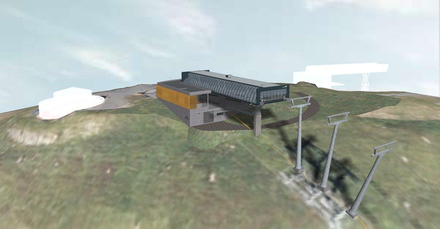 12er kogelbahn - Bergstation