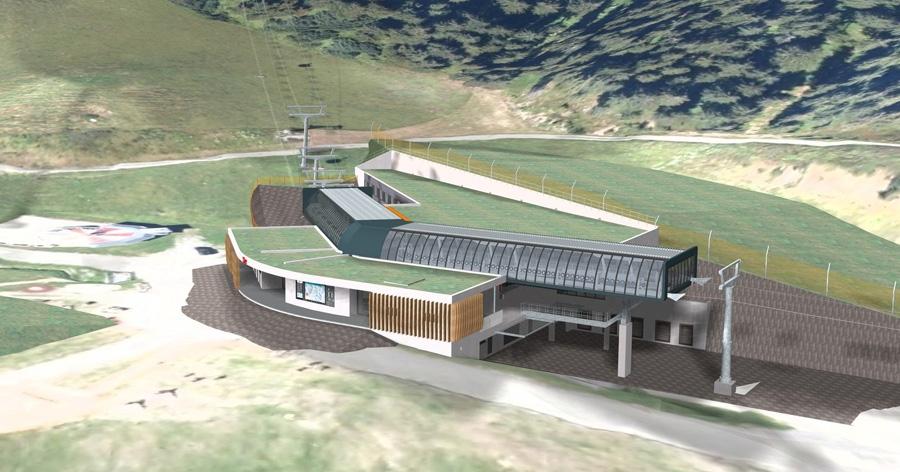 12er kogelbahn - middelstation