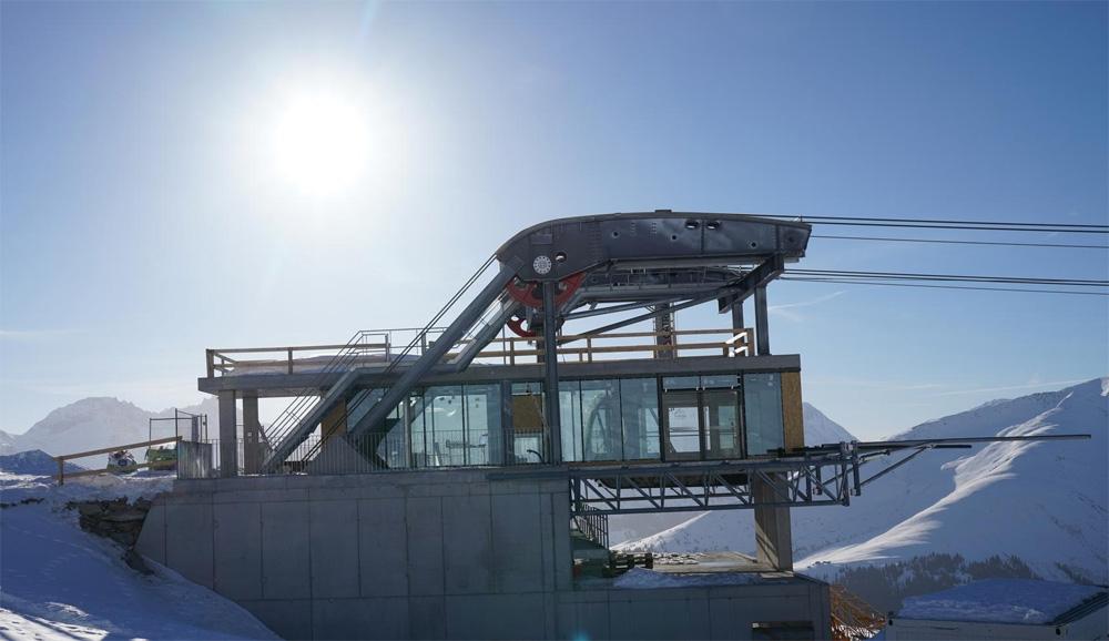 Bergstation nieuwe Pendelbahn