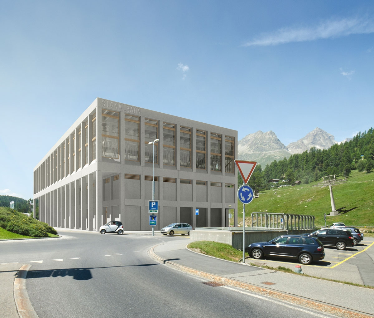 Dalstation Signalbahn - Engadin Sankt Moritz