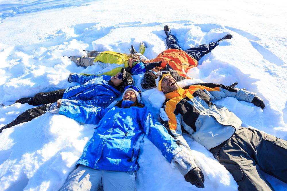 Met elkaar op wintersport