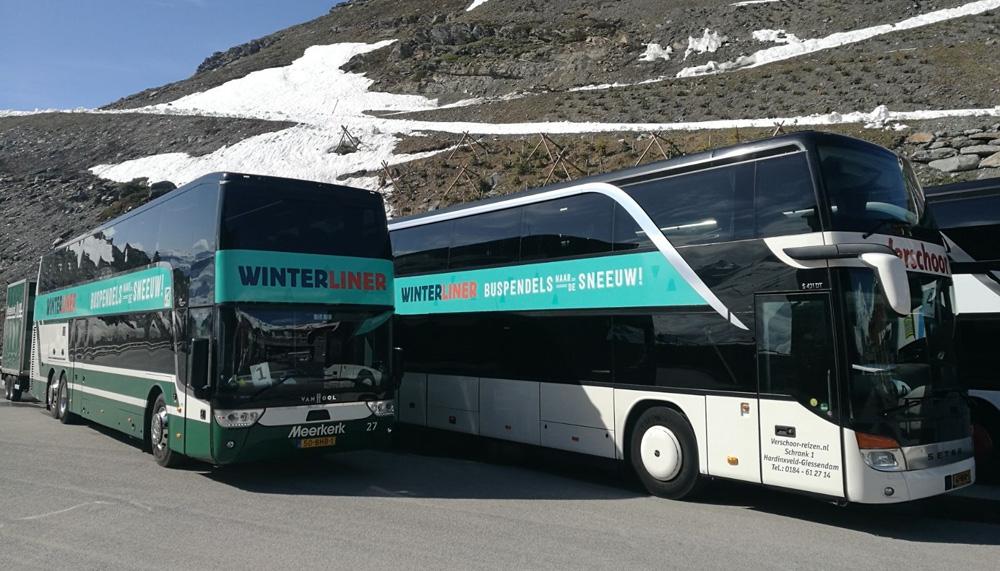 Met de bus naar de sneeuw